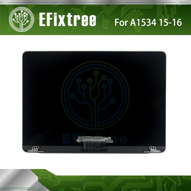 Genuine Silver A1534 Screen LCD Silver For Apple Macbook Retina 12