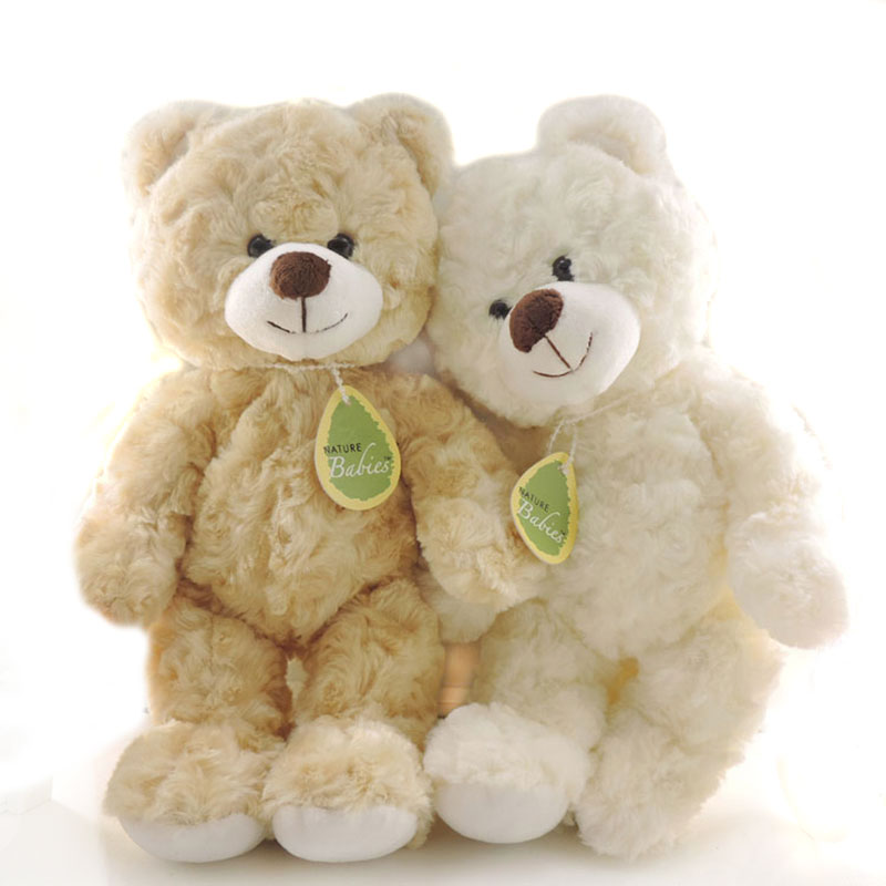 Hot 30CM Kawaii Small Teddy Bears Plush Toys Stuffed Animals Fluffy Bear Dolls Soft Kids Toys Random Necklace/Bow Children Gift ty collection beanie boos kids plush toys big eyes slick brown fox lovely children gifts kawaii stuffed animals dolls cute toys