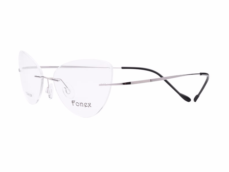 rimless women cat eye glasses silhouette fashion eyewear eyeglasses (15)