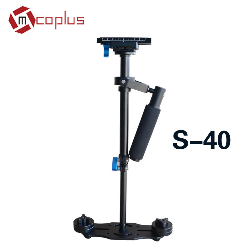 Mcoplus Portable S-40 16/40cm Aluminium Handheld Stabilizer Steadicam steadycam with 1/4 Screw for Video DV Camcorder & DSLR ajustable s60 gradienter handheld stabilizer steadycam steadicam photo studio stabilizer accessories for camcorder dslr