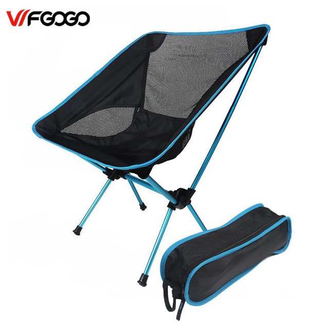 WFGOGO Ultralight Foldable Camp Chair,Backpacking Camping Fishing Motorcycling Outdoor Events Chairs with Adjustable Height