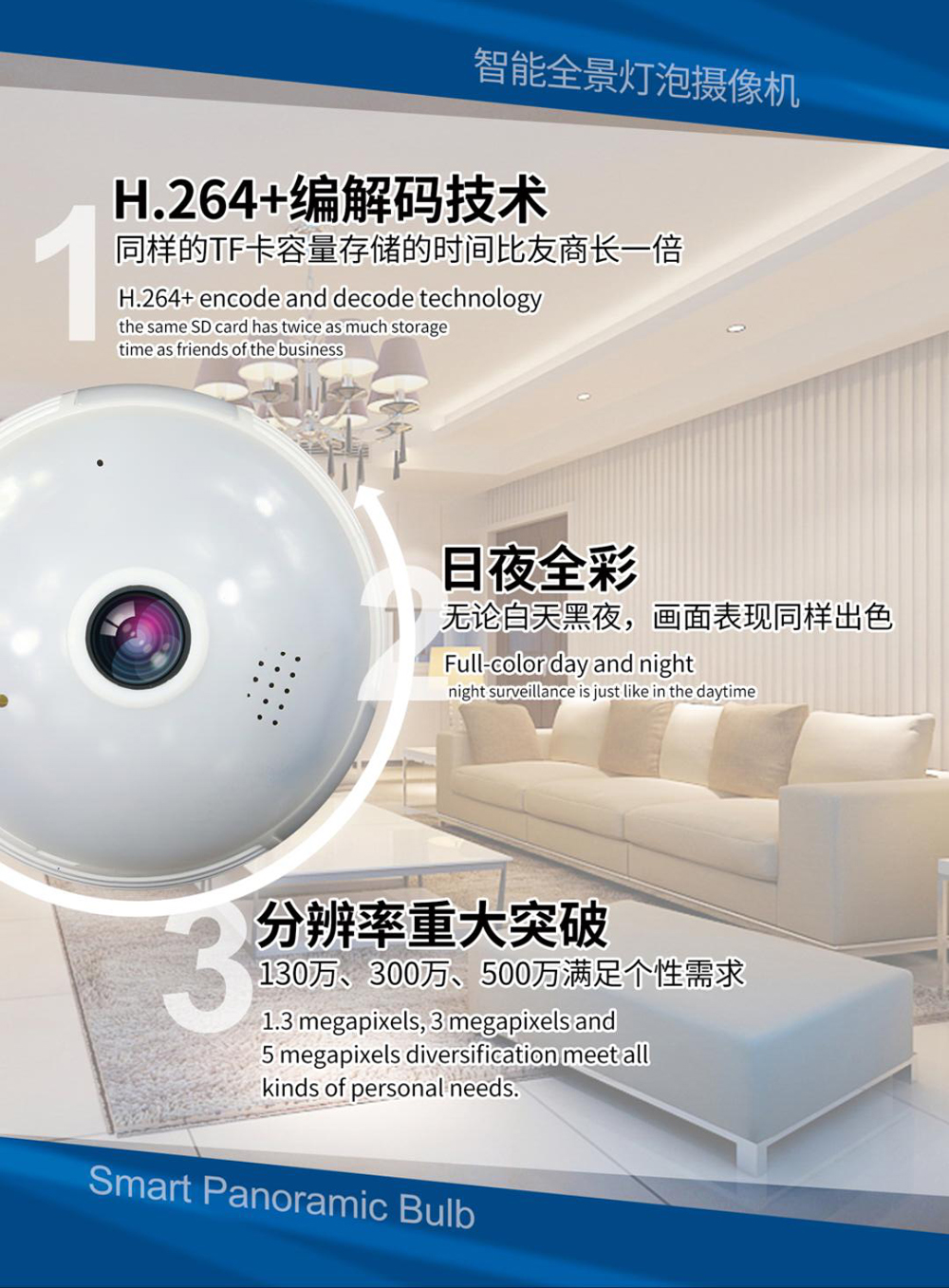 b  Three Array Led 128G 960P 1.3mp 360 Degree Fisheye 3D VR Panoramic Bulb Wifi Wireless IP CCTV Surveillance Camera Free Shipping HTB13SxqX0LO8KJjSZPcq6yV0FXax