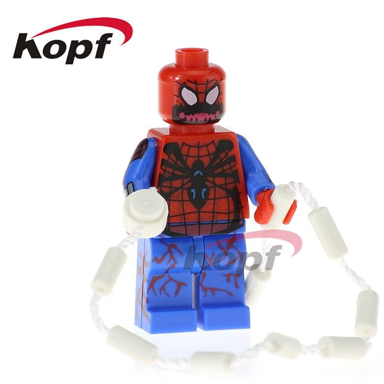 20Pcs PG345 Building Blocks Super Heroes Carnage Spider Man Green Goblin G. W. Bridge X-Force Bricks Learning Toys for children