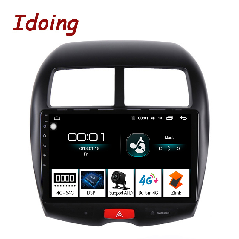 Idoing 10 2 4G 64G Octa Core Car Android 8 1 Radio Multimedia Player Fit Mitsubishi