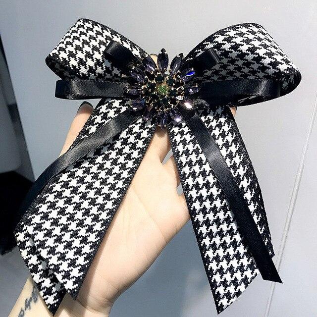 Для женщин лук Броши Шпильки ленты Мода брохес изделия бантом брошь Винтаж воротник Булавки корсаж платье-рубашка ювелирные изделия галстук