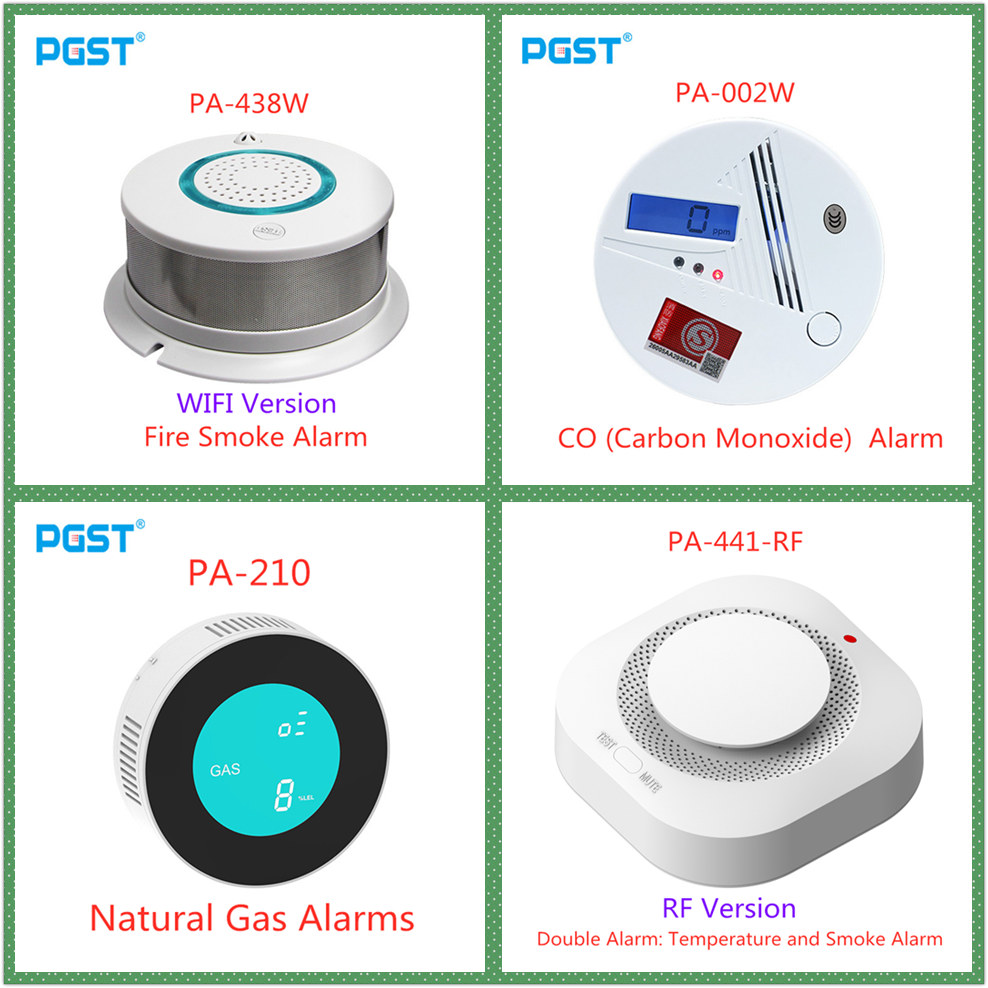 433MHz Independent Auto Dial Voice Wireless WIFI Fire Protection Smoke Detector Portable Alarm Sensors For security Alarm System in Smoke Detector from Security Protection