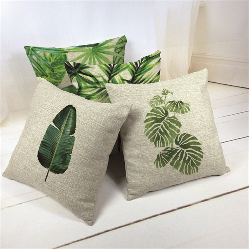 Own Photo Nordic Tropical Style Banana Leaf Cushion Cover