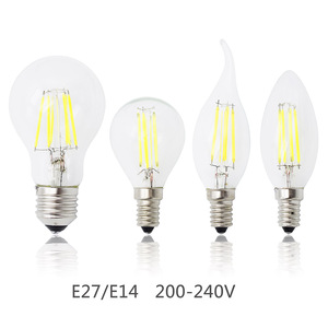 New E27 Lamp E14 LED Filament 4W 8W 12W 16W Dimmable Glass Edison 220V Bulb Replace Halogen Light Chandeliers Energy Saving(China)