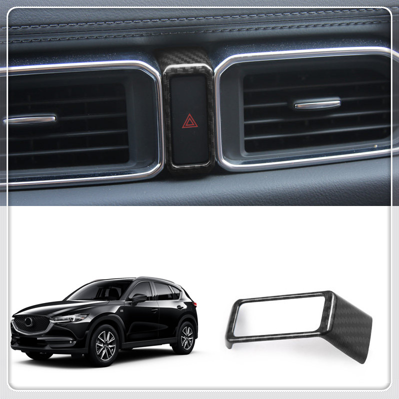 1PC Matte black Car Dashboard Warning Lights cover Trim frame For MAZDA CX-5 2017 2018 car cover