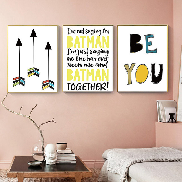Letters Wall Hanging Picture Posters And Prints Modern Geometric ...