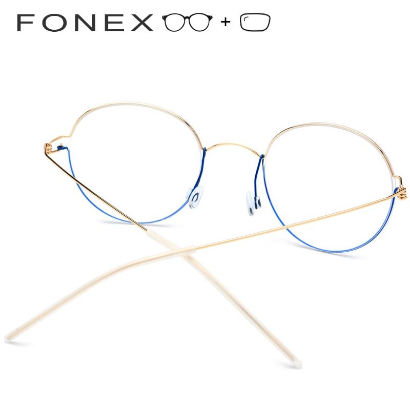 Titan Schraubenlose Rahmen Männer Dänemark Myopie Frauen Koreanische Legierung Optische Marke Designer Brillen TrtPwxATq