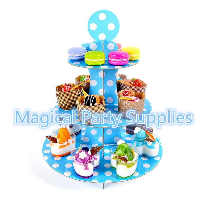 ▻Envío libre 3 unids de 3 niveles soporte de la torta papel ...