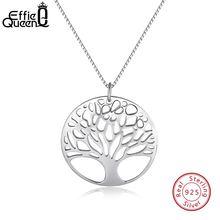 Женское ожерелье из серебра 925 пробы с кулоном «Дерево жизни»