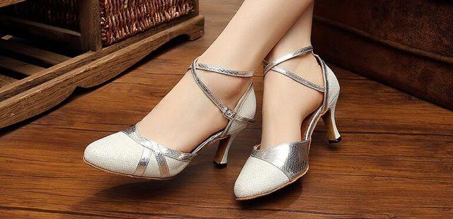 60eba154cd US $35.99 |New Free Shipping Silver Glitter Closed Toe Dance Shoe Ballroom  Salsa Latin Waltz Tango Ceroc Bachata Dancing Shoes ALL Size-in Dance shoes  ...