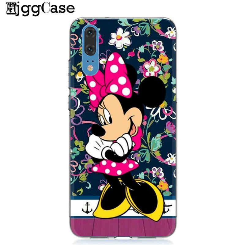 Minnie mickey suave de TPU funda del teléfono para Huawei P10 P20 P30 Pro P9 P8 Lite 2017 Mate 10 20 Pro honor 9 10 Lite 8C 8X Y9 2019 cubierta