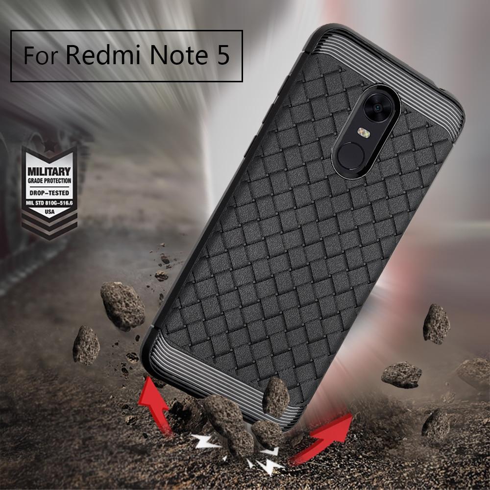 Для Redmi note 4 4X5 NOTE4 5 чехол Роскошные ультра тонкий силиконовый чехол Примечание 5 5A pro плетение из кожи Мягкий силиконовый Капа