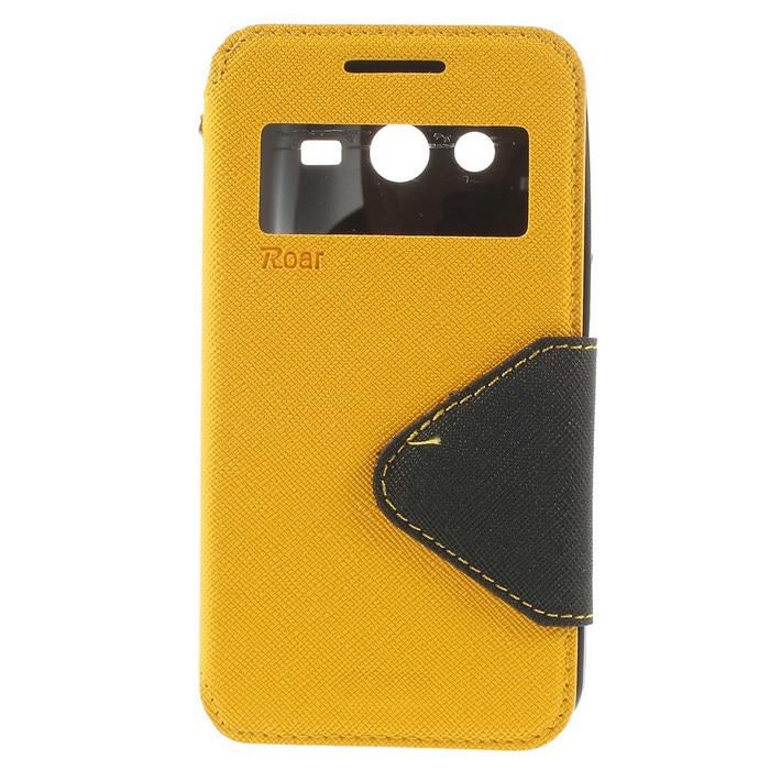 e6625640d3b Original Roar funda para Samsung G355h Corea diario Cruz textura ver  ventana cuero stand cubierta para Samsung Galaxy Core 2 g355H