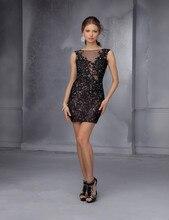 Vestidos Sexy Kleid Mode Spitze Mini Cocktail Homicoming Kleid