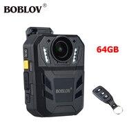 BOBLOV WA7 D USB 2.0 IP67 32MP 1296P HD Video Camera Mini Comcorder 170 Degree Ambarella A7 2600mAh Battery Body Camera GPS