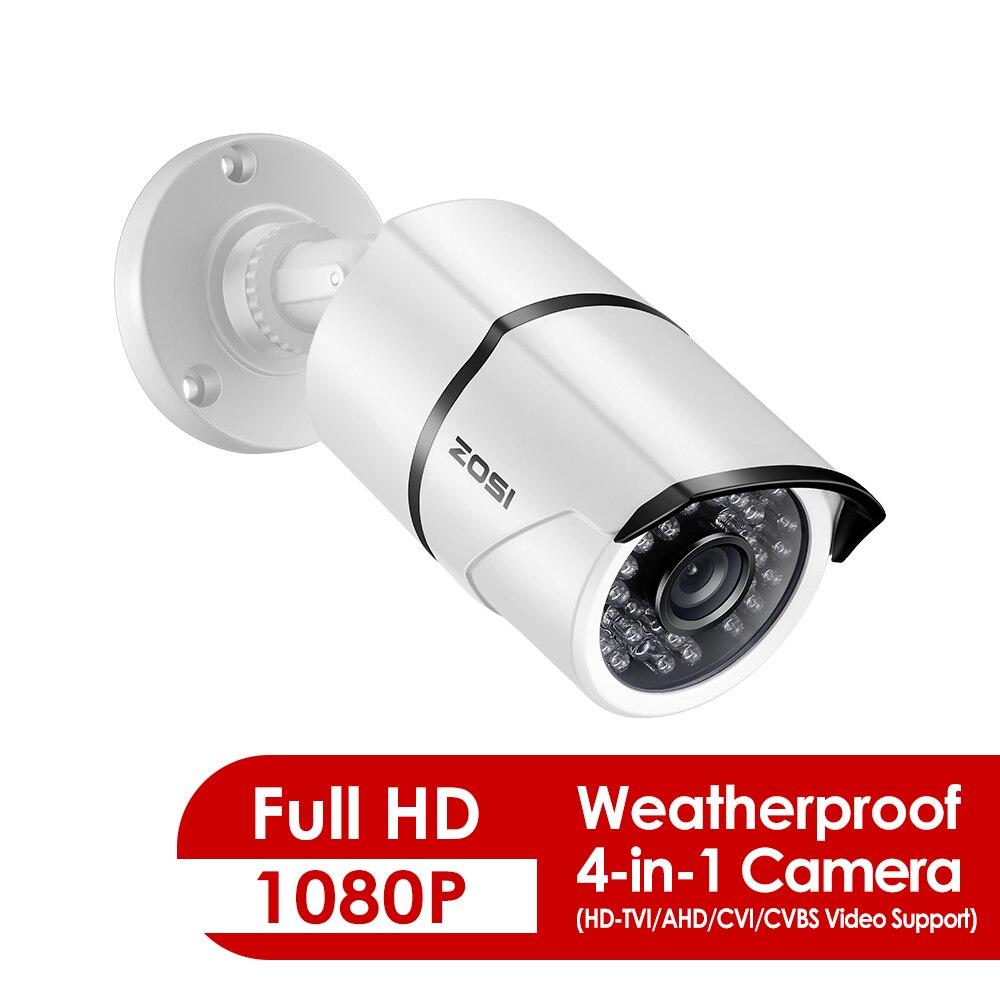 ZOSI 1080 P 4-en-1 caméra de Surveillance vidéo intérieure extérieure HD 2.0MP étanche 100ft jour nuit caméra de sécurité CCTV à domicile