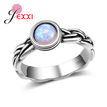 JEMMIN Fire Opal Ring for Women Anniversary Engagement Appointment Statement Jewelry S925 Factory Price Birthday Gift Hot Sale(China)