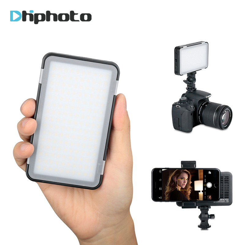 GODOX  LEDM150 Smartphone LED Selfie light 5600K Dimmable Rechargeable Camera Video Light Led Panel for iPhone X Tripod Studio led luminous selfie light case for iphone