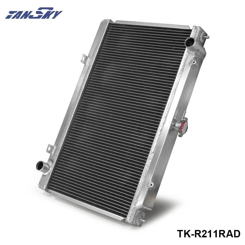 Pour 95-98 Nissan 240SX S14 SR/SR20DET Performance manuelle course radiateur en aluminium complet 2 rangées 2