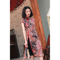Summer Vietnam Ao dai Asian apparel tradition silk cheongsam dresses