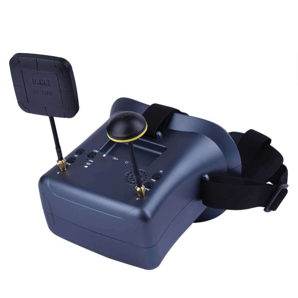 FPV LS-008D 4.3 ''5.8G 40CH DVR lunettes de diversité double antenne 2000 mAh batterie intégrée pour Drone RC