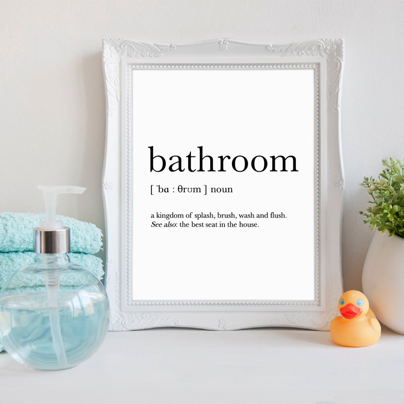 Bathroom Signs Print