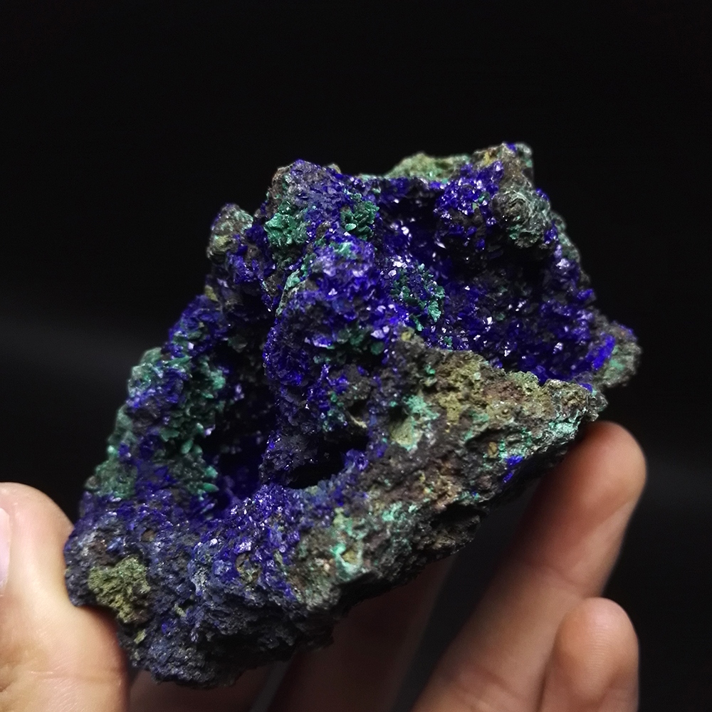 273g NATURAL Stones and Minerals malachite azurite ore crystal specimens originated in China blue ore A2