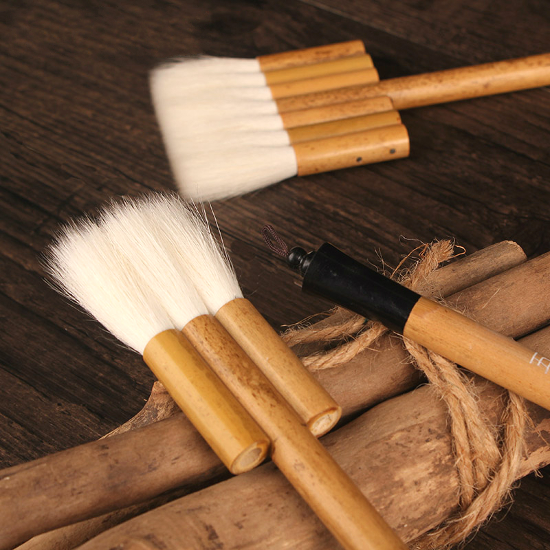 Woolen Hair Oil Painting Brush Watercolor Paint Brush Background 3/5/7 Joint Brush Large Wide Bamboo Pen Scrubbing Brush