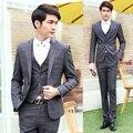 Wedding Suits For Men 3 Piece Formal Slim Fit Blazer Vest Classic Suits Tuxedo Groom Dress Business Plaid Suits Coat Pant XY15