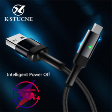 USB Type C Cable Fast Charging Micro Charger Cord For Lighting Microusb USB-C Intelligent Power Off Mobile Phone Charge Cables