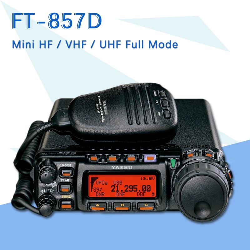 Convient pour la voiture Yaesu FT-857D double bande Portable radioamateur ondes courtes Ultrashort Mini émetteur-récepteur Radio de voiture en Mode complet
