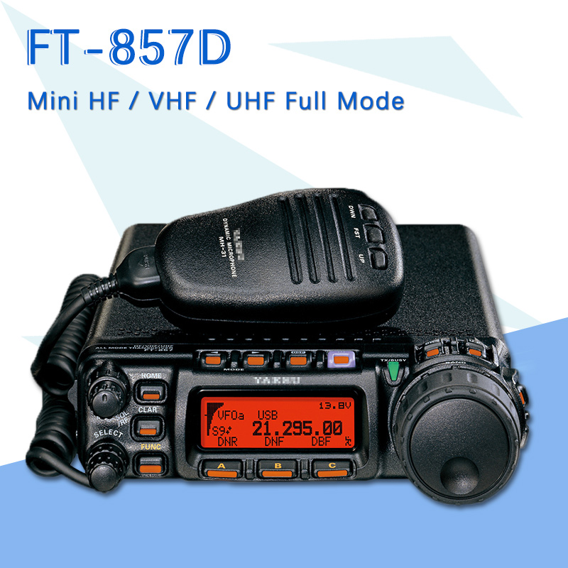 Suitable For The Yaesu FT-857D Car Dual Band Portable Amateur Radio Shortwave Ultrashort Mini Full Mode Car Radio Transceiver