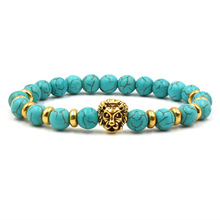 Hot Sale Charm Trendy Bracelet Golden Lion Head Leopard Elastic Fashion Woman Bracelets 2019 Friendship