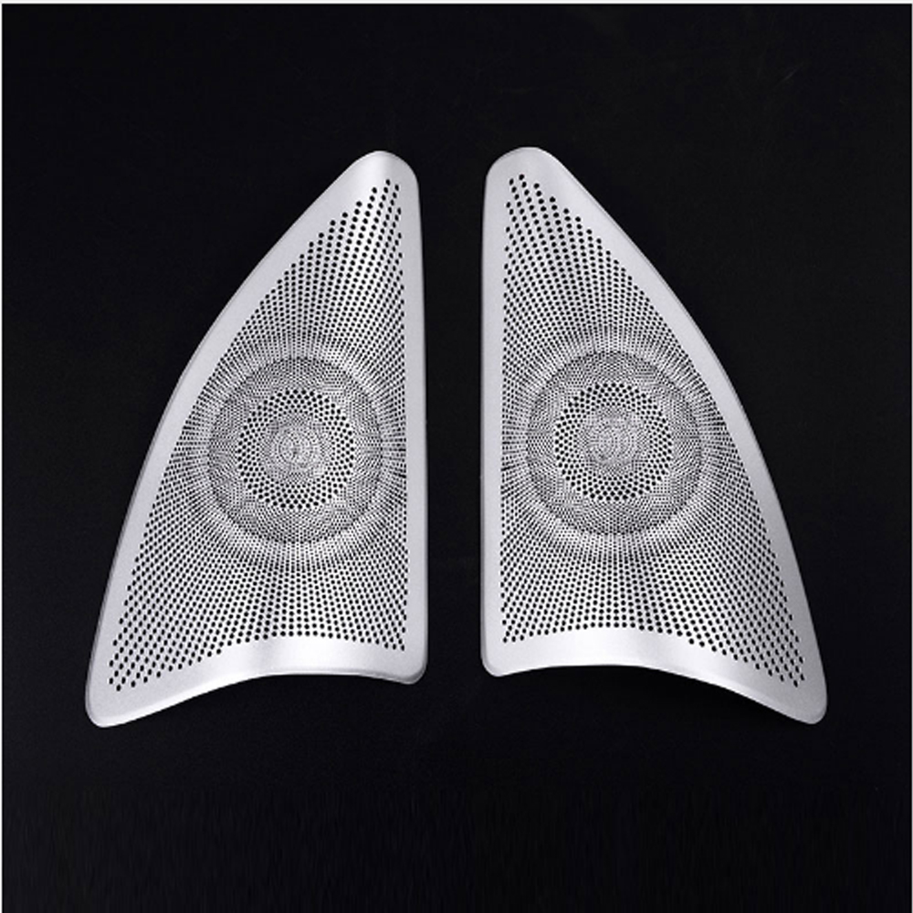 Aleación de aluminio de la puerta del cromo cubierta del altavoz - Accesorios de interior de coche - foto 3