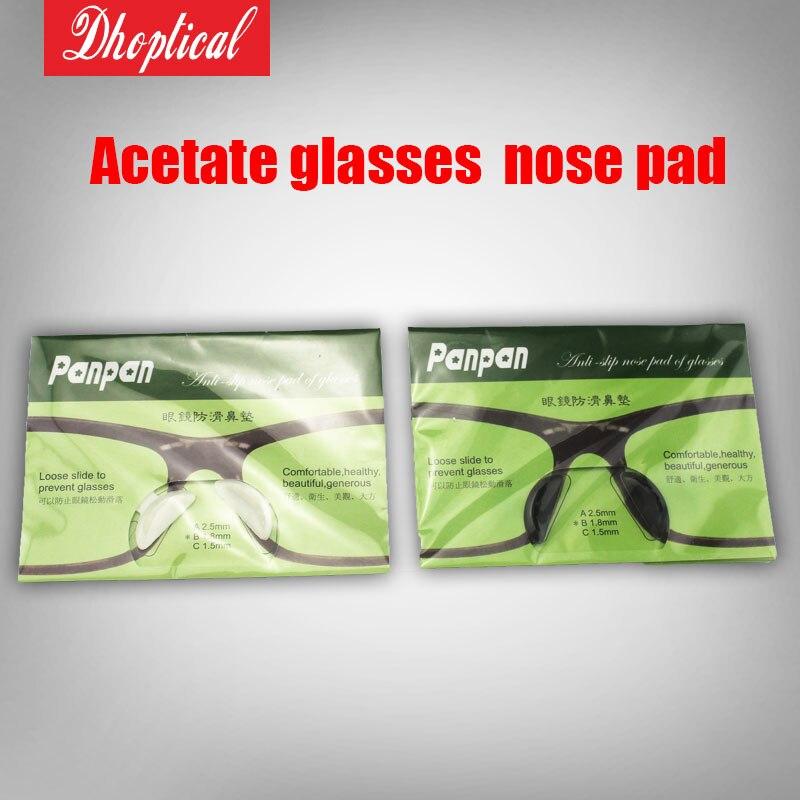 Frete grátis acetato óculos pad nariz silicone pad nariz panpan 100 pair 3  M cola atacado 4a2885dd8f