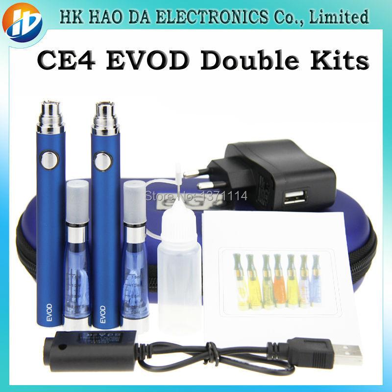 EGO CE4 EVOD font b electronic b font font b cigarette b font Double kits 2
