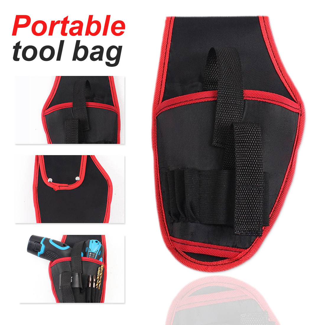 Tool Bag  Portable Cordless Drill Holder Holst Tool Pouch For 12v Drill Waist Tool Bag