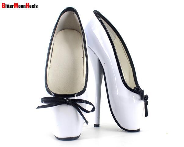 ФОТО Manmi-Free Shipping BD SM style Big Size Customize Unisex Adult Ballet Toe Shoes Woman Shoe Fashion Sexy Bowtie Heels Pumps 18cm