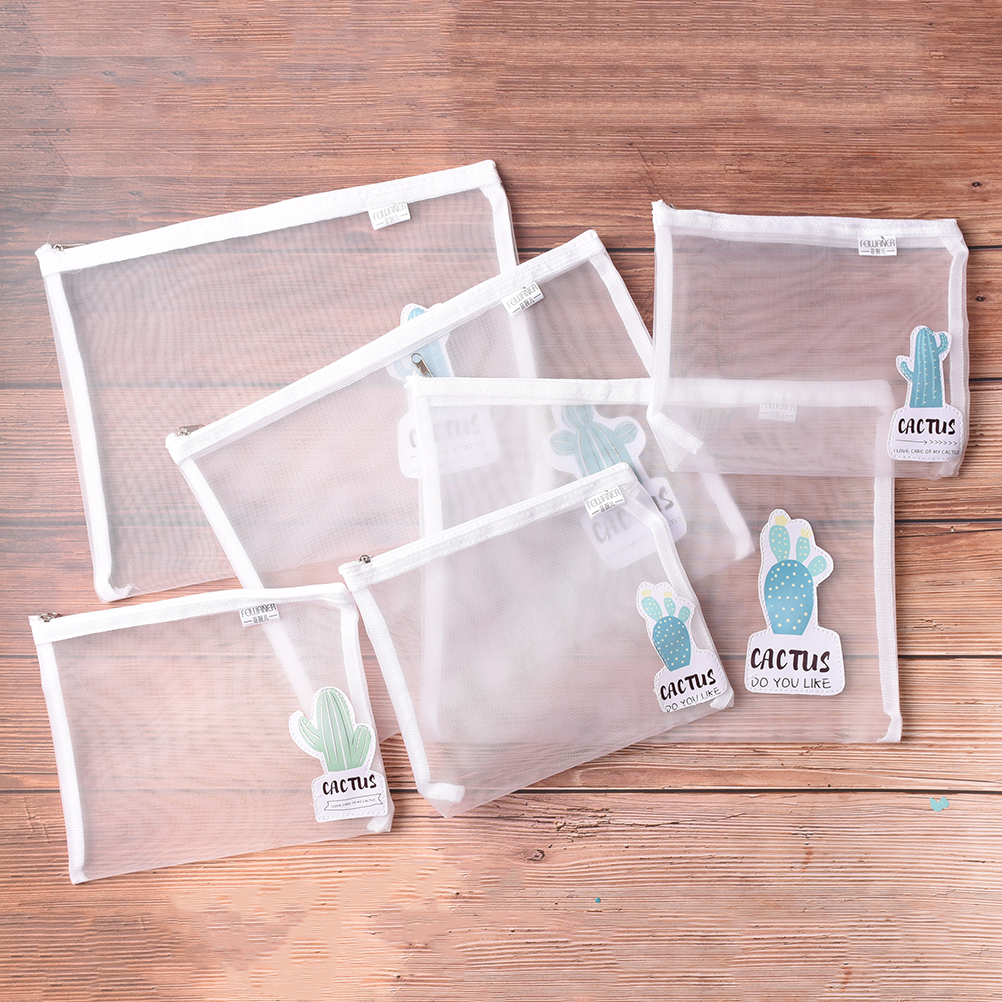 Office & School Supplies Transparent Cactus A4/a5 Folder Mesh File Folder Document Bag Stationery Bag Promotional Gift Stationery Bag Filing Products