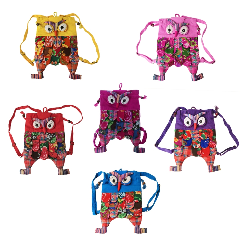 1 pcs / lot Preschool Owl Children Bag Ethnic Colorful Point Cartton Soft Backpack with Rope Children Purse Gift Bag Patchwork1 pcs / lot Preschool Owl Children Bag Ethnic Colorful Point Cartton Soft Backpack with Rope Children Purse Gift Bag Patchwork