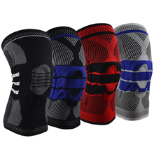 2019 Sports Knee Pads Silicone Anti-collision Spring Basketball Riding Hiking Running Fitness Outdoor Protective Gear