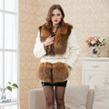 real fur Women fur coats Genuine Raccoon Dog Fur coat Fashion Slim Winter coats of rabbit fur natural Winter Outerwear