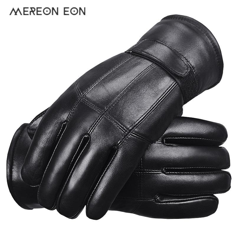 2017 hot sale men sheepskin gloves genuine leather glove for men winter outdoor warm fur. Black Bedroom Furniture Sets. Home Design Ideas