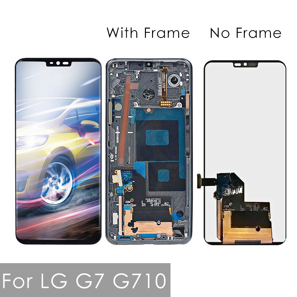 Original 6.1'' Display For LG G7 LCD G710 G710EM G710PM G710VMP LCD Touch Screen Assembly Digitizer Frame For LG G7 thinQ LCD