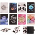 For Samsung Galaxy Tab S2 9.7 T815 T815C Case Fashion Flower Panda Owl Style PU Leather + TPU Flip Wallet Tablet Back Cover Capa