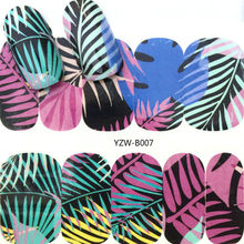 HOT SELL Colorful Leaves Fashion Women Nail Sticker Butterfly Flower Water Transfer Decal Sliders for Nail Art Decoration Tools(China)
